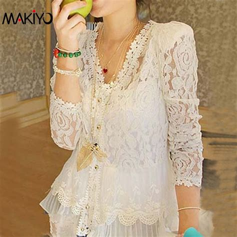 Blouse Cotton Lace G216533 2017 new plus size shirt tops sleeve cotton lace blouses embroidered floral blouse