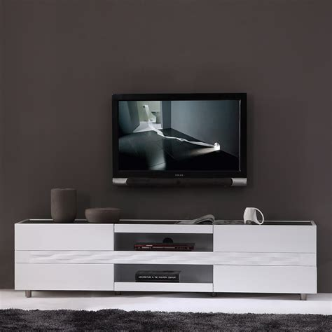 "B Modern BM 803 WHT Publisher 71"" Contemporary TV Stand in"