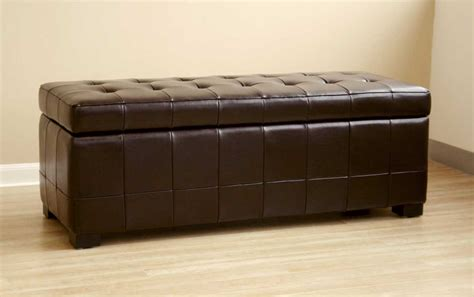 leather storage ottoman bench wholesale interiors y 105 leather storage bench ottoman y