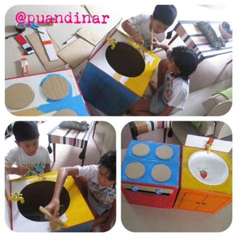 cara membuat kitchen set mainan dari kardus bekas diy dapur mainan dari kardus bekas mommies daily