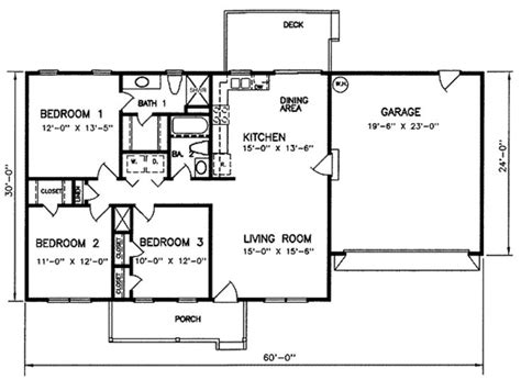 ranch style bungalow floor plans ranch style house plan 3 beds 2 baths 1200 sq ft plan