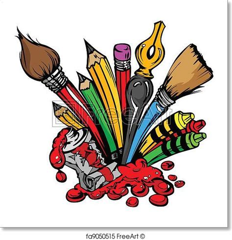 arts clipart free print of supplies vector and