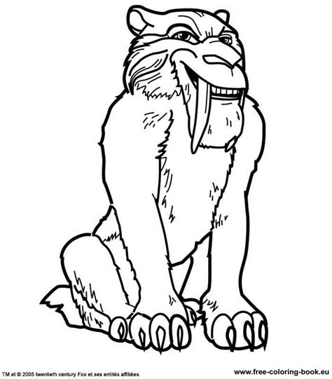 coloring pages of age animals saber tooth tiger coloring pages coloring home