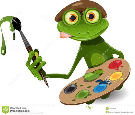 peintre de grenouille image stock image 32563941