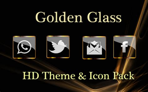 themes vip apk golden glass nova launcher theme icon pack android apps