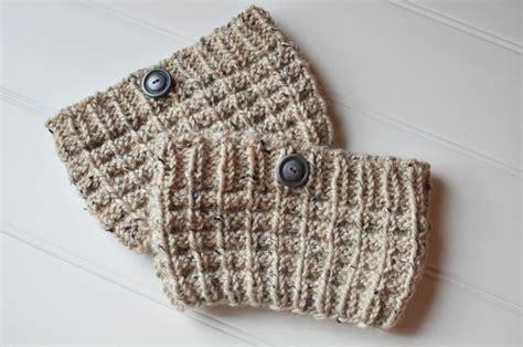knit boot cuff pattern waffle knit boot cuffs knitting patterns and crochet