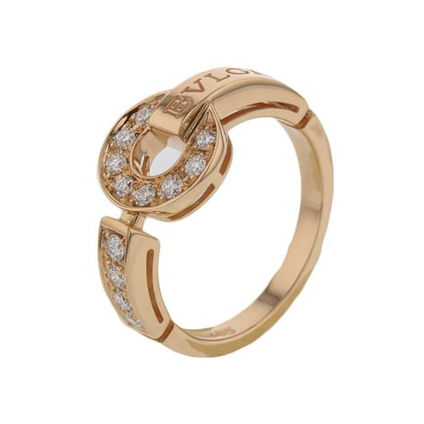 ring jewelry bulgari jewelry bvlgari bvlgari ring 18kpg diamonds size