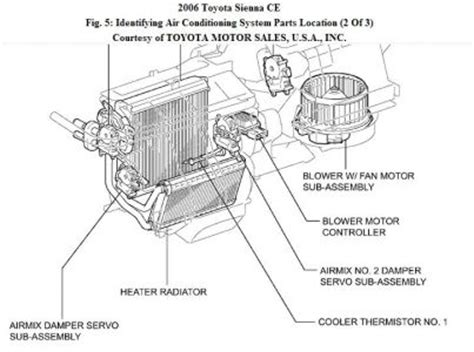 toyota rear air conditioning system diagram toyota free