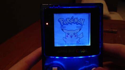 gameboy color speaker mod custom game boy color with front light mod translucent