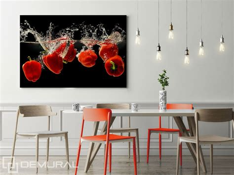 the pepper canvas prints in dining room