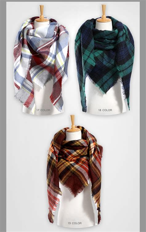 13 Best Designer Scarves by Top Quality Winter Scarf Plaid Scarf Designer Unisex