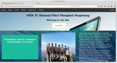 membuat web statis dengan html dan css membuat web statis menggunakan html dan css ahmad faizin