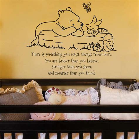 Classic Winnie The Pooh Wall Stickers classic pooh and piglet you must always by grabersgraphics