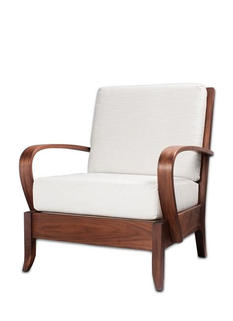 swoop armchair custom walnut swoop arm chair by bernwood custom design