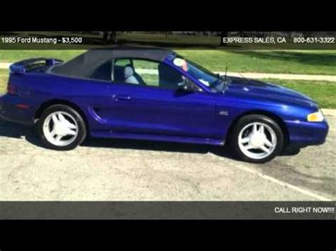 mustang for sale in los angeles 1995 ford mustang gt convertible for sale in los angeles