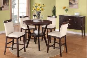 High Chair Dining Set Modern 5pc Dining Set Counter Height Dining Table Chair