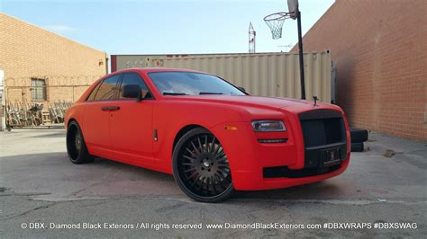 matte red rolls royce home black exteriors dbx wraps