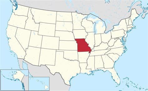 map usa missouri missouri state nickname the show me state