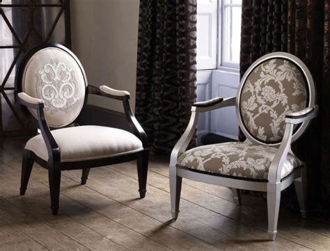 Patterned Chairs Design Ideas Terrific Neo Classic Oval Back Arm Classic Chair Design Ideas With Floral Patterned Padded Seat
