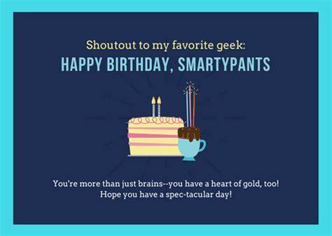 Happy Birthday Smartypants. Free Happy Birthday eCards