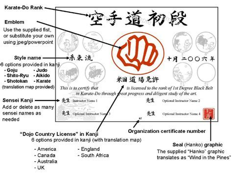 Martial art certificate templates free un mission resume and belt certificate template documents and forms templates yelopaper Gallery