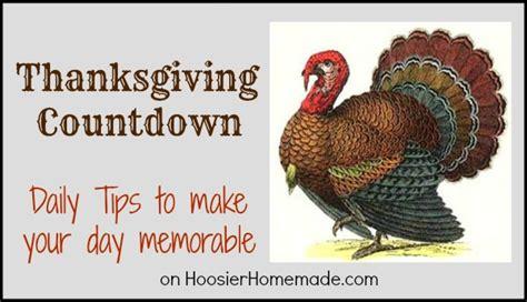 thanksgiving countdown hoosier homemade