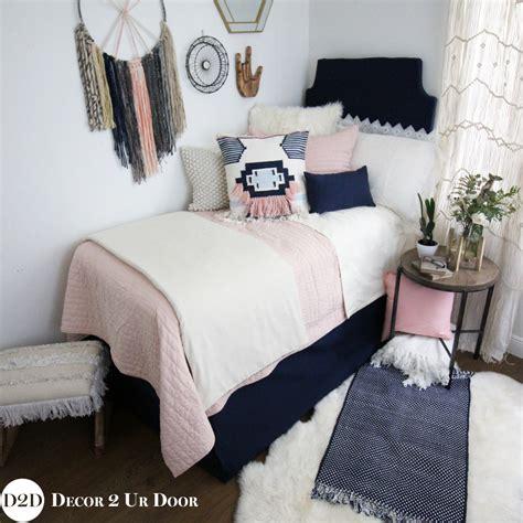 pink navy boho designer teen girls bedding