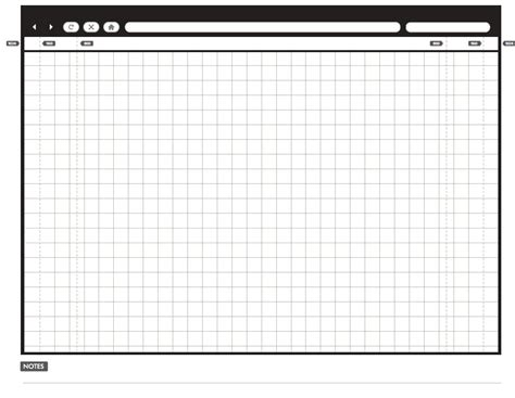 template layout paper 20 free printable sketching and wireframing templates