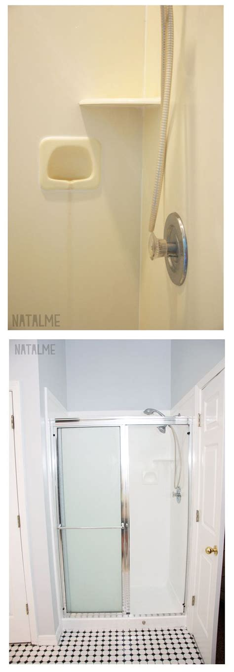 paint a bathtub with rustoleum shower before and after with rust oleum tub tile paint