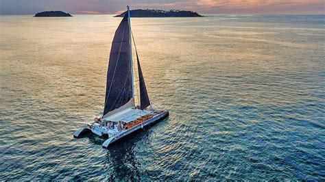 sailing catamaran charter phuket boat in the bay yacht - Catamaran Yacht Phuket