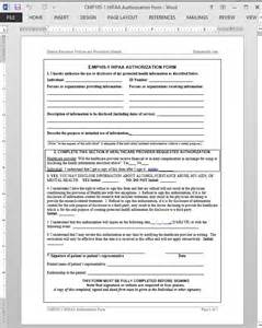 hipaa compliant release of information template hipaa authorization template