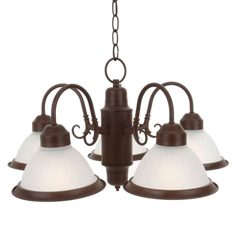 commercial electric 5 light chandelier commercial electric halophane 5 light nutmeg chandelier