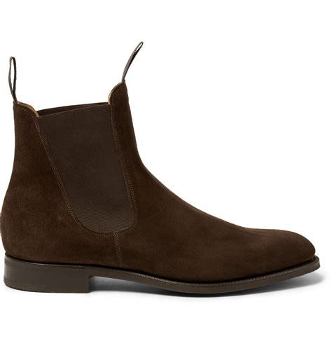 chelsea boots lyst edward green newmarket suede chelsea boots in brown