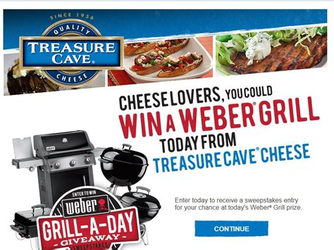 Sweepstakes A Day - treasure cave grill a day sweepstakes