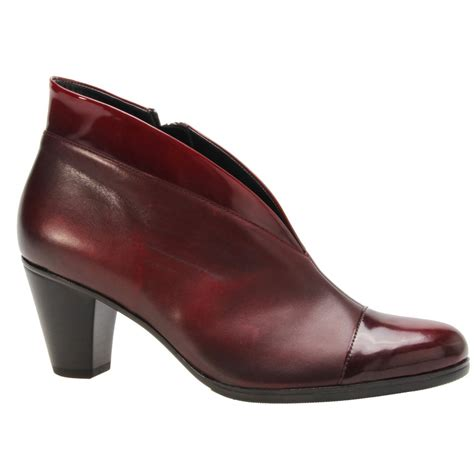 burgundy shoes gabor womens enfield two tone burgundy shoe boots 55 616 95