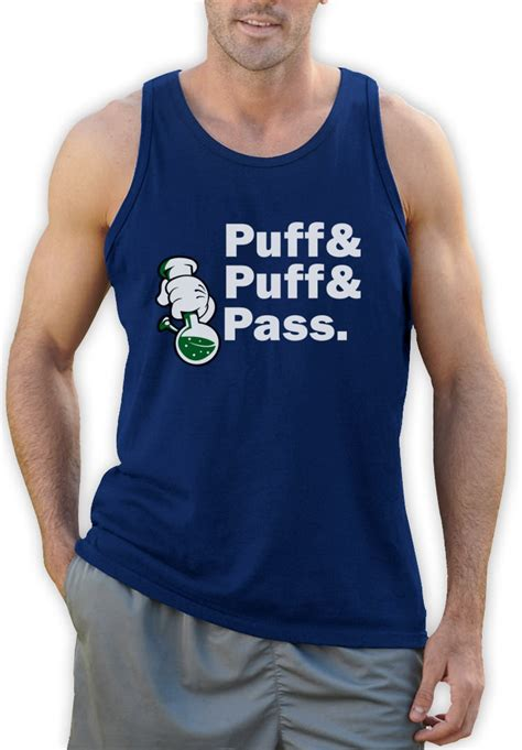 Puff Puff Pass by Puff Pass Dope Bong Singlet Blunt 420 Mickey Gloves