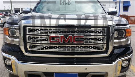 grill for gmc 2014 2015 gmc chrome grille insert overlay trim