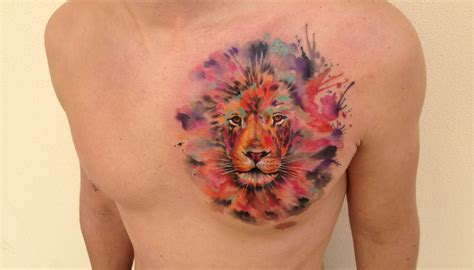 animal chest tattoos animals with and chest