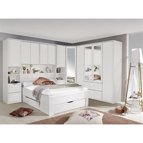 White Bedroom Set King white overbed wardrobe systems fitted bedroom furniture