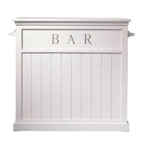 mobile bar bianco mobile bar bianco in legno l 120 cm newport maisons du monde