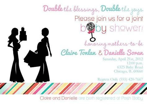 Joint Baby Shower by Baby Shower Invitation Templates Joint Baby Shower