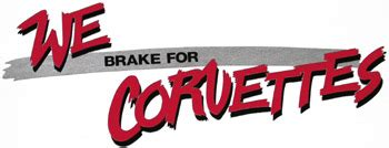 Auto Sticker L We by We Brake For Corvettes Decal Bfcd 10 00 Parts
