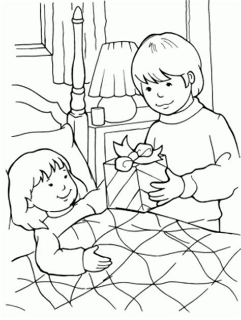 imagenes niños enfermos nino enfermo para colorear dibujo una cama pictures