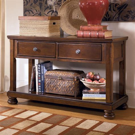 Furniture Sofa Table by Signature Design By Porter T697 4 Sofa Table Media