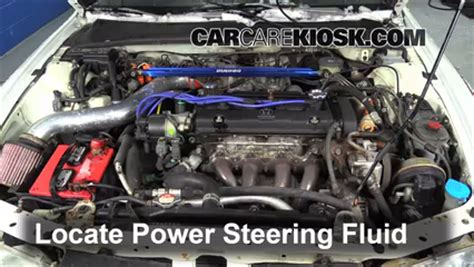 honda civic power steering fluid reservoir follow these steps to add power steering fluid to a honda