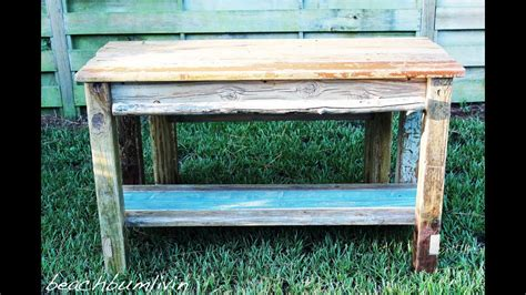 build  rustic kitchen island  bench