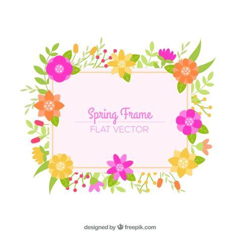 cornice floreale cornice floreale primaverile scaricare vettori gratis