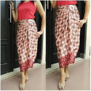 Kain Lilit Motif rok lilit kain batik murah model modern terbaru