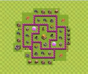 Demikian beberapa base th 6 war clash of clans untuk farming trophy