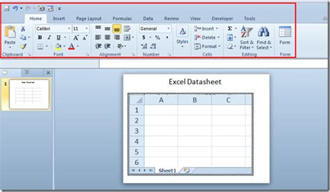 powerpoint tutorial worksheet embed excel spreadsheet in powerpoint 2010